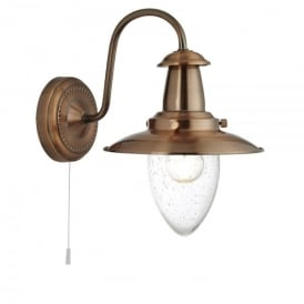 Fisherman Single Light Wall Fitting in Copper Finish