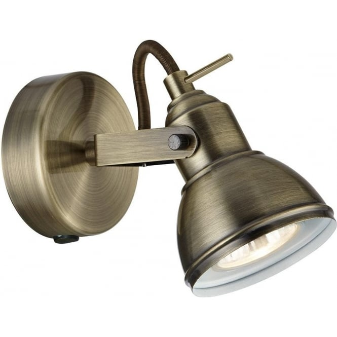 Searchlight lighting focus switched single light spotlight fixture focus switched single light spotlight fixture in antique brass aloadofball Choice Image