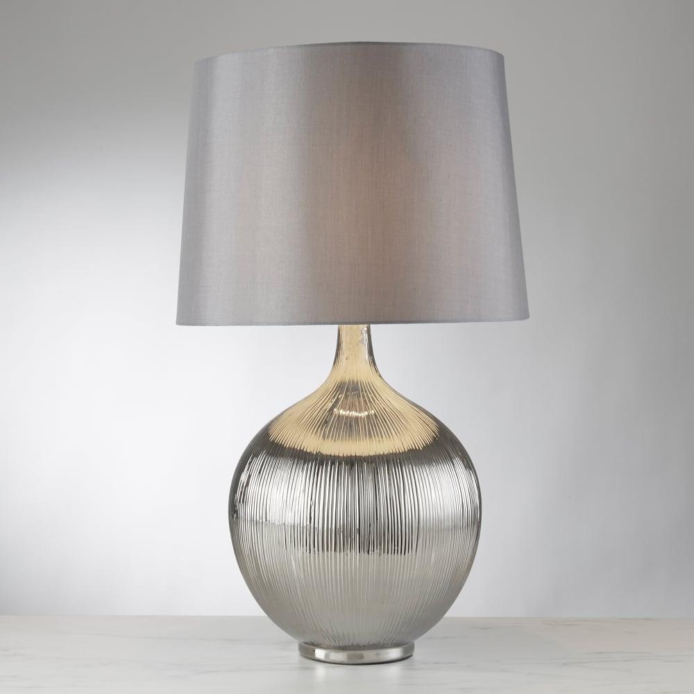 Searchlight lighting glenmont single light chrome table lamp with glenmont single light chrome table lamp with polished chrome finish ridged base and silver shade aloadofball Gallery