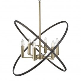 Hoopla 6 Light Ceiling Pendant in Bronze Finish