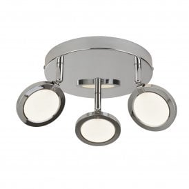 Languna 3 Light Ceiling Fitting in Polished Chrome Finish