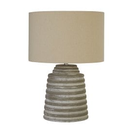 Liana Single Light Table Lamp in Grey Finish