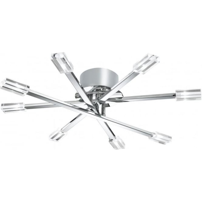 Searchlight lighting lina 8 light halogen semi flush ceiling lina 8 light halogen semi flush ceiling fitting in polished chrome finish aloadofball Gallery