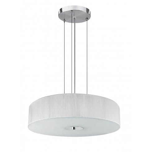 searchlight lighting madison 3 light ceiling fitting in polished chrome finish with white string. Black Bedroom Furniture Sets. Home Design Ideas