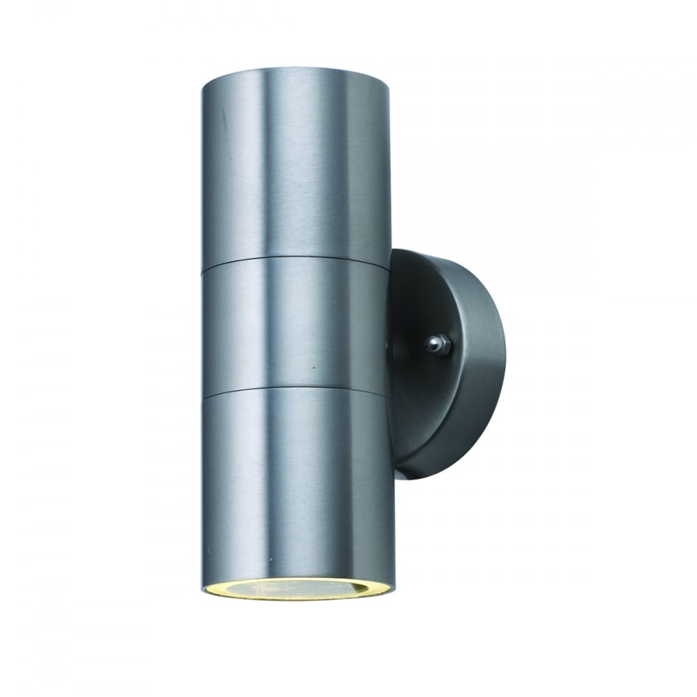 Searchlight Lighting Outdoor 2 Light LED Wall Light In Stainless Steel Finish