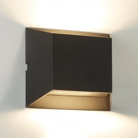 Outdoor LED Square Up/Down Wall Fitting In Black Finish