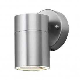 Outdoor Single Light LED Wall Light in Stainless Steel Finish