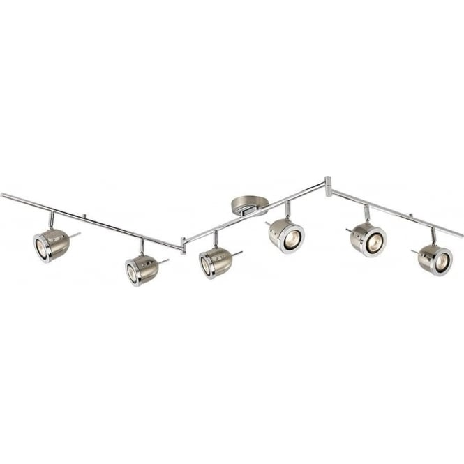 Searchlight lighting palmer 6 light satin silver adjustable ceiling palmer 6 light satin silver adjustable ceiling spotlight bar aloadofball Images