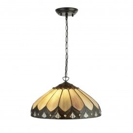Pearl 2 Light Tiffany Ceiling Pendant