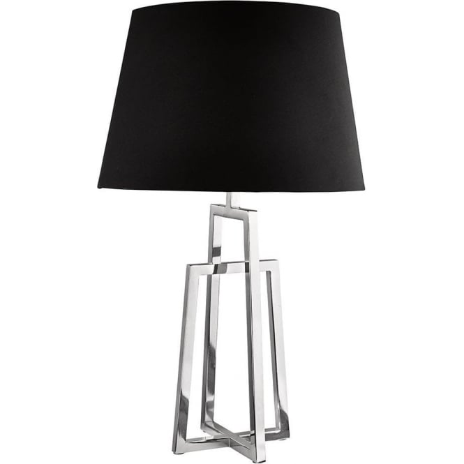 Searchlight lighting polished chrome crossed table lamp Types of table lamps