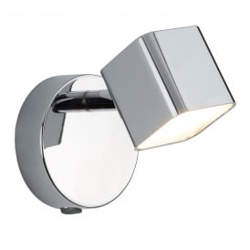 Quad Single Light LED Square Head Spot Light In Polished Chrome Finish