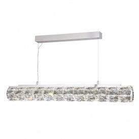 Remy LED Crystal Ceiling Pendant in Polished Chrome Finish