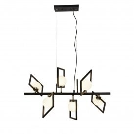 Rosewell 6 Light Ceiling Pendant in Black Finish