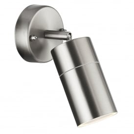 Single Light Outdoor Directional Wall Fitting Stainless Steel Finish