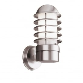 Single Light Outdoor Wall Fitting In Stainless Steel Finish With Polycarbonate Diffuser