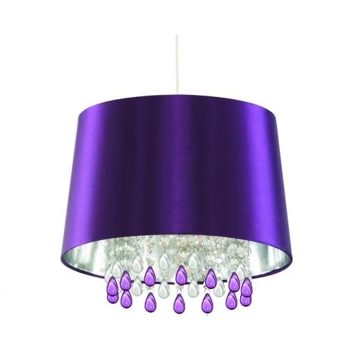 Searchlight Lighting Single Light Purple Pendant Light