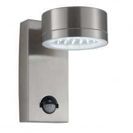 Stainless Steel LED Outdoor Wall Fitting With PIR Motion Sensor