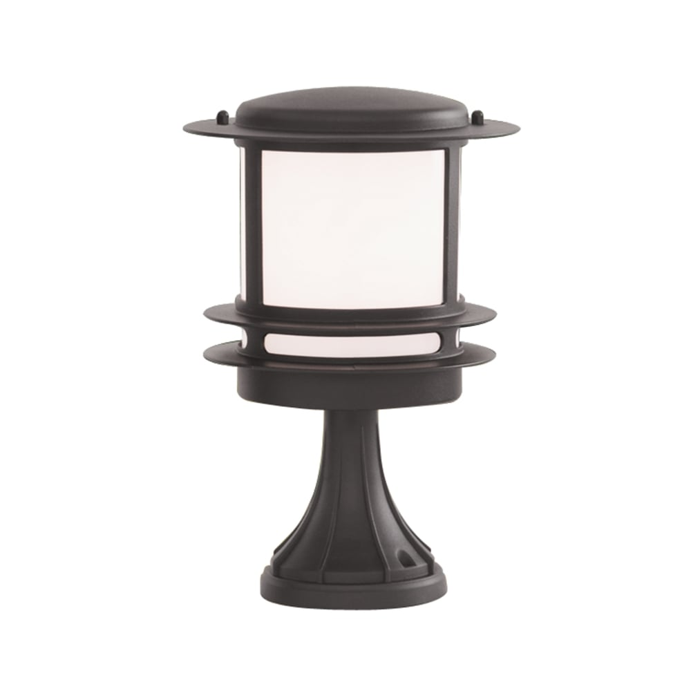 Searchlight lighting stroud single light outdoor pedestal light in stroud single light outdoor pedestal light in black finish with opal polycarbonate diffuser aloadofball Gallery
