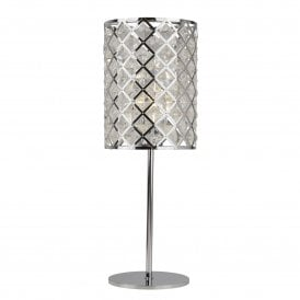 Tennessee Single Light Table Lamp in Polished Chrome Finish
