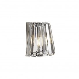 Tiara Single Light Switched Crystal Wall Fitting