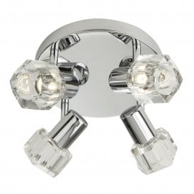 Triton 4 Light LED Ceiling Spotlight in Polished Chrome Finish