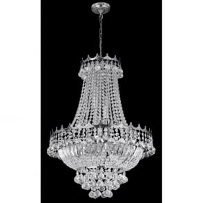 cc1154f200 Versailles 9 Light Chandelier in Polished Chrome Finish with Crystal  Decoration