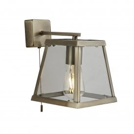 Voyager Single Light wall Fitting in Antique Brass Finish