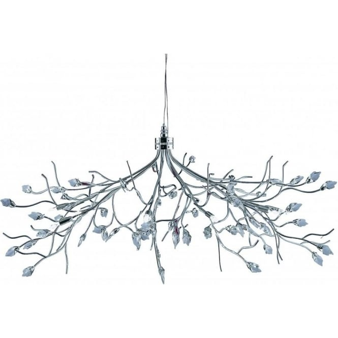 Searchlight Lighting Willow Halogen 10 Light Chrome And Crystal Fitting