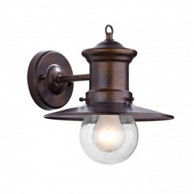 Sedgewick Single Light Outdoor Wall Fixture in a Bronze Finish