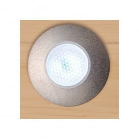 Set of 5 Recessed Outdoor Walkover Amber LED Lights with Satin Silver Finish