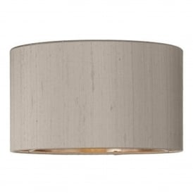 Shallow Drum 100% Silk 12 Inch Shade in Truffle Finish With Bronze Lining
