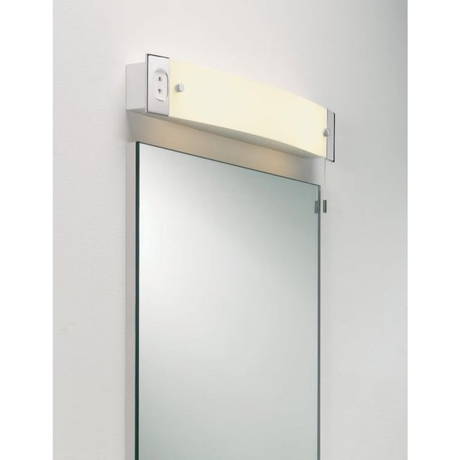 Astro Lighting Shaver 2 Light Bathroom Wall Fitting With Shaver Socket In Polished Chrome Finish