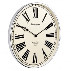 Shelby Wall Clock in Chrome Plated Finish