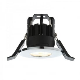Shield LED 400 Single Light Fire Rated Bathroom Recessed Ceiling Spotlight Fitting In Polished Chrome Finish