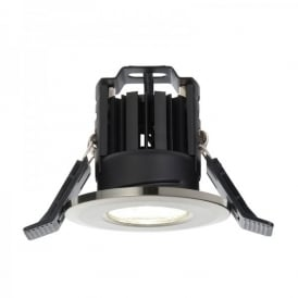Shield LED 600 Single Light Recessed Bathroom Fire Rated Ceiling Spotlight Fitting In Satin Nickel Finish