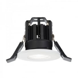 Shield LED 600 Single Light Recessed Bathroom Fire Rated Ceiling Spotlight Fitting In White Finish