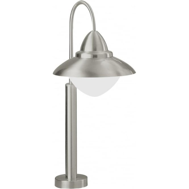 Eglo Lighting Sidney Single Light Outdoor Pedestal Lamp in Stainless Steel