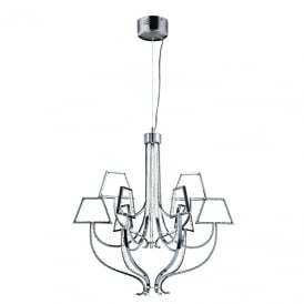 Silhouette LED Ceiling Pendant In Polished Chrome Finish
