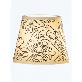 Silk Cream Candle Clip Shade with Floral Pattern