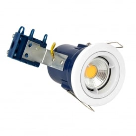 Single Light Recessed Fixed Fire Rated Downlight In White Finish