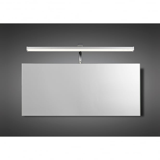 Mantra Sisley Single LED Above Mirror Wall Light in Chrome and Silver Finish with Acrylic ...
