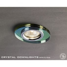 Slim Recessed Chamfered Spectrum Crystal Oval Downlight Fascia Only