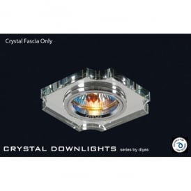 Slim Recessed Clear Crystal Concave Corner Downlight Fascia Only