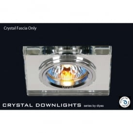Slim Recessed Clear Crystal Square Downlight Fascia Only