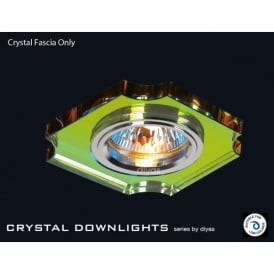 Slim Recessed Spectrum Crystal Concave Corner Downlight Fascia Only