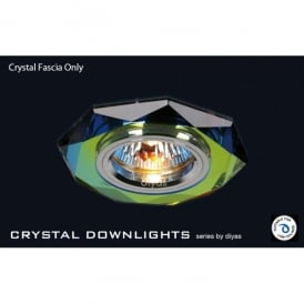 Slim Recessed Spectrum Crystal Hexagonal Downlight Fascia Only