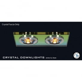 Slim Recessed Spectrum Crystal Rectangle Downlight Fascia Only