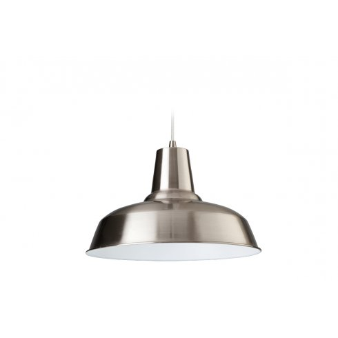 Firstlight smart single light ceiling pendant in brushed steel with a white interior lighting - Interior smart lighting ...