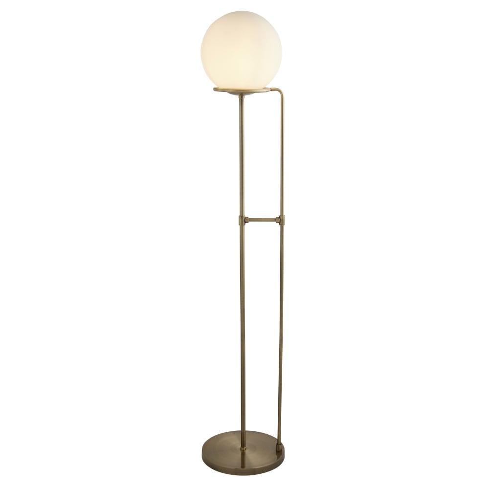 Searchlight lighting sphere single light floor lamp in for Sphere 5 light floor lamp