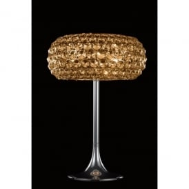 Star 3 Light Table Lamp In Polished Chrome And Champagne Crystal Finish